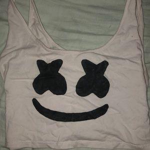 Marshmello handmade crop top